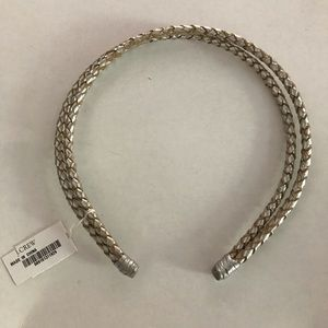 J. Crew Silver Braided Headband